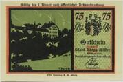 75 Pfennig (Berga an der Elster; Silhouette Series) – obverse