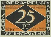 25 Pfennig (Gera) – obverse