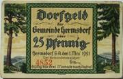 25 Pfennig (Hermsdorf in Thüringen) – obverse