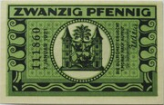 20 Pfennig (Ilmenau; green issue) – reverse