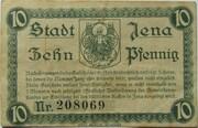 10 Pfennig (Jena) – reverse