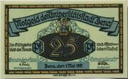 25 Pfennig (Jena) – obverse