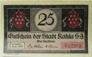 25 Pfennig (Kahla) – obverse