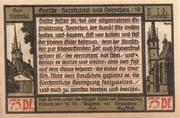 75 Pfennig (Pößneck; Goethe Series - Issue 10) – reverse