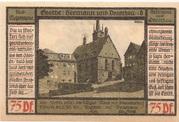 75 Pfennig (Pößneck; Goethe Series - Issue 8) – reverse