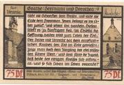75 Pfennig (Pößneck; Goethe Series - Issue 9) – reverse