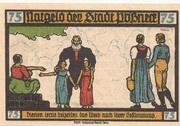 75 Pfennig (Pößneck; Goethe Series - Issue 7) – obverse