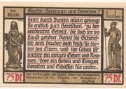 75 Pfennig (Pößneck; Goethe Series - Issue 7) – reverse