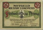25 Pfennig (Langewiesen) – obverse