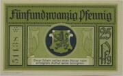25 Pfennig (Leutenberg) – reverse