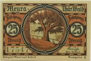 25 Pfennig (Meura) – reverse