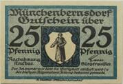 25 Pfennig (Münchenbernsdorf) – obverse