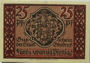 25 Pfennig (Ohrdruf) – obverse