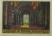 50 Pfennig (Paulinzella; Monastery Series - Issue 2) – reverse