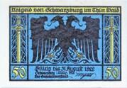 50 Pfennig (Schwarzburg) – obverse