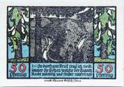 50 Pfennig (Schwarzburg; Humboldt Series - Issue 1) – reverse