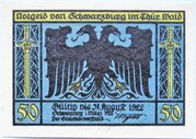 50 Pfennig (Schwarzburg; Humboldt Series - Issue 2) – obverse