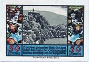 50 Pfennig (Schwarzburg; Humboldt Series - Issue 2) – reverse