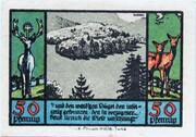 50 Pfennig (Schwarzburg; Humboldt Series - Issue 3) – reverse