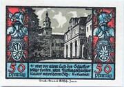 50 Pfennig (Schwarzburg; Humboldt Series - Issue 4) – reverse