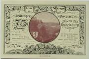 75 Pfennig (Kahla; Leuchtenburg - Issue 2A: Rudelsburg) -  reverse