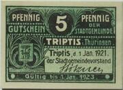5 Pfennig (Triptis) – obverse