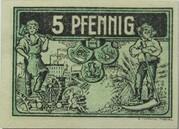 5 Pfennig (Triptis) – reverse