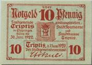10 Pfennig (Triptis) – obverse