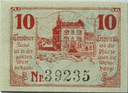 10 Pfennig (Triptis) – reverse