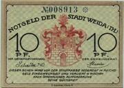 10 Pfennig (Weida) – obverse