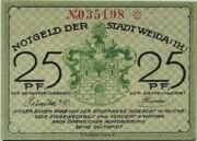 25 Pfennig (Weida) – obverse