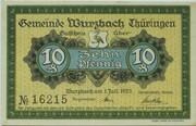 10 Pfennig (Wurzbach) – obverse