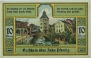 10 Pfennig (Wurzbach) – reverse
