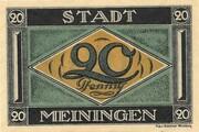 20 Pfennig (Meiningen) – obverse