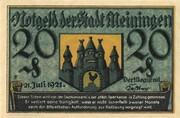 20 Pfennig (Meiningen) – reverse