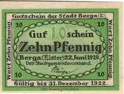 10 Pfennig (Berga an der Elster) – reverse