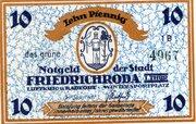 10 Pfennig (Friedrichroda) – obverse
