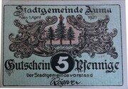 5 Pfennig (Auma) – obverse