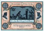 50 Pfennig (Stützerbach weimarischer Anteil; Goethe Series) -  reverse