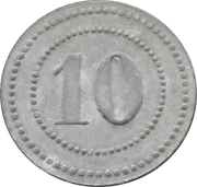 10 Pfennig - Wülzburg (Offizier Gefangenenlager) – reverse