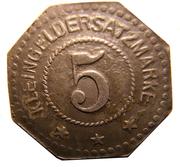 5 Pfennig (Segeberg) [Private, Schleswig-Holstein, Vorschußverein] – reverse