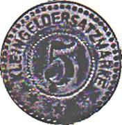 5 Pfennig (Saar-Buckenheim) [Stadt, Elsaß] – reverse