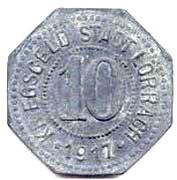 10 Pfennig (Lörrach) [Stadt, Baden] – obverse