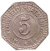 5 Pfennig (Algringen) [Gemeinde, Lothringen] – reverse