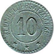 10 Pfennig (Oberhofen) [Kommandantur Tr Üb Pl, Elsaß-Lothringen] – reverse