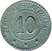 10 Pfennig - Oberhofen (Kommandantur)  – reverse