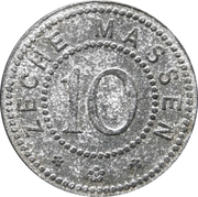10 Pfennig - Massen (Zeche Massen) – obverse
