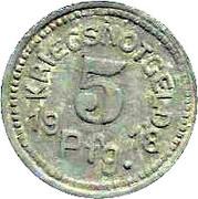 5 Pfennig (Tauberbischofsheim) [Stadt, Baden] – reverse