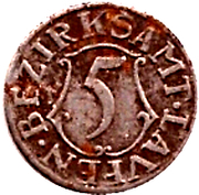 5 Pfennig (Laufen) [Bezirksamt, Bayern] – reverse