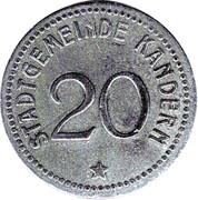 20 Pfennig (Kandern) [Stadt, Baden] – obverse